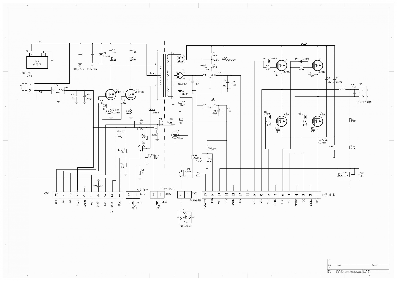 150w dc-ac power inverter схема