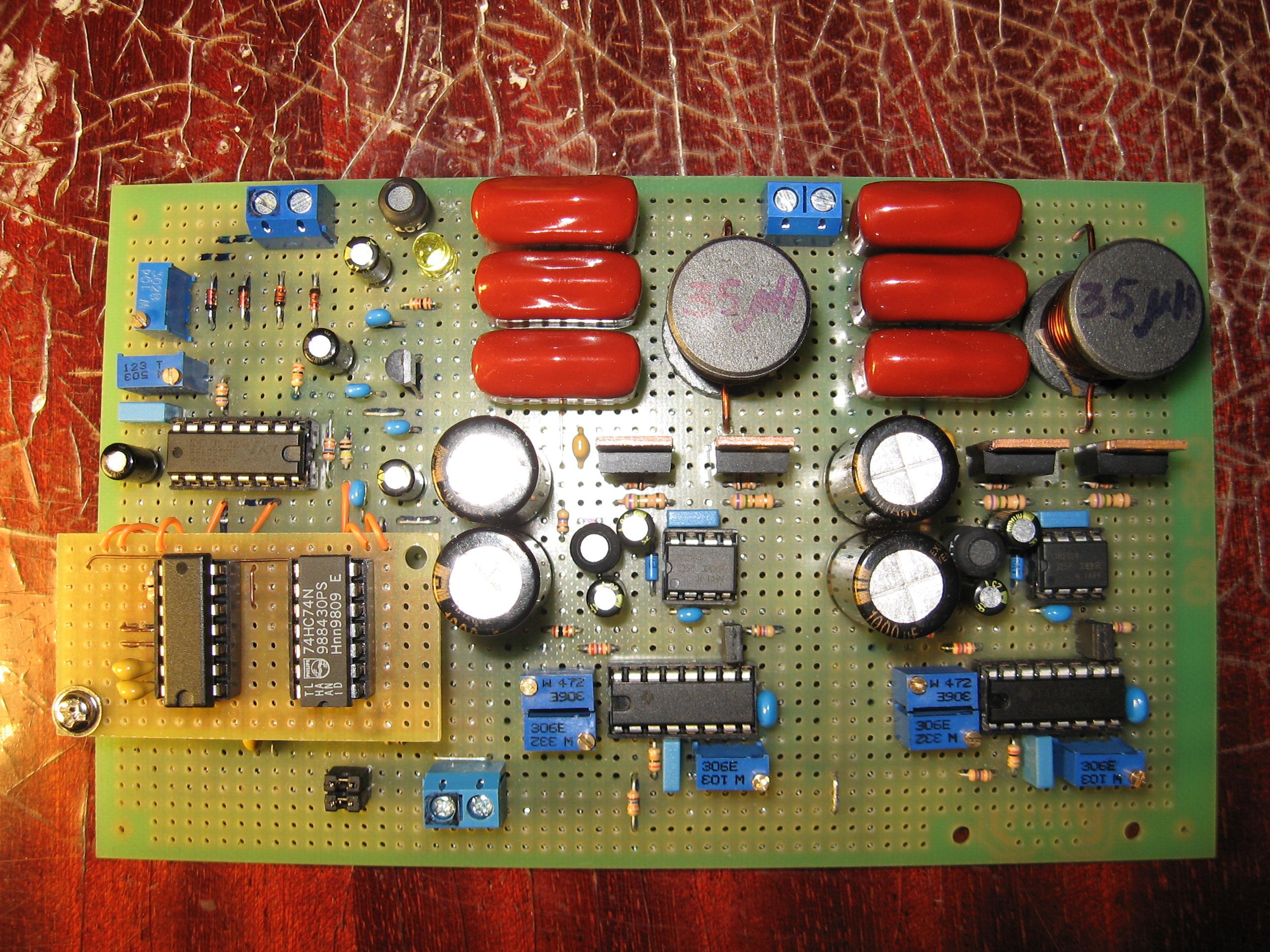 схема преобразователя 12-220в на tl494