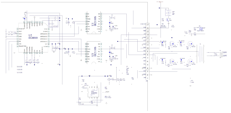 Инвертор 12-220в синусоида схема